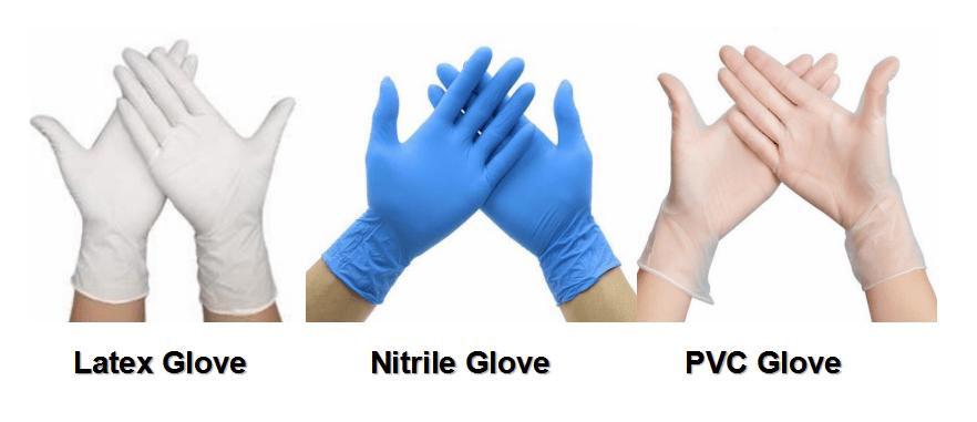 Latex Nitrile PVC gloves