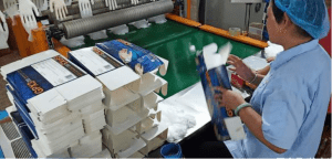 pvc gloves packing