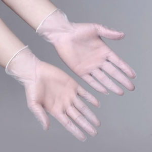 Disposable vinyl gloves for safety and health inspection