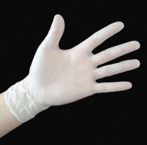 Disposable Synthetic strech pvc vinyl gloves